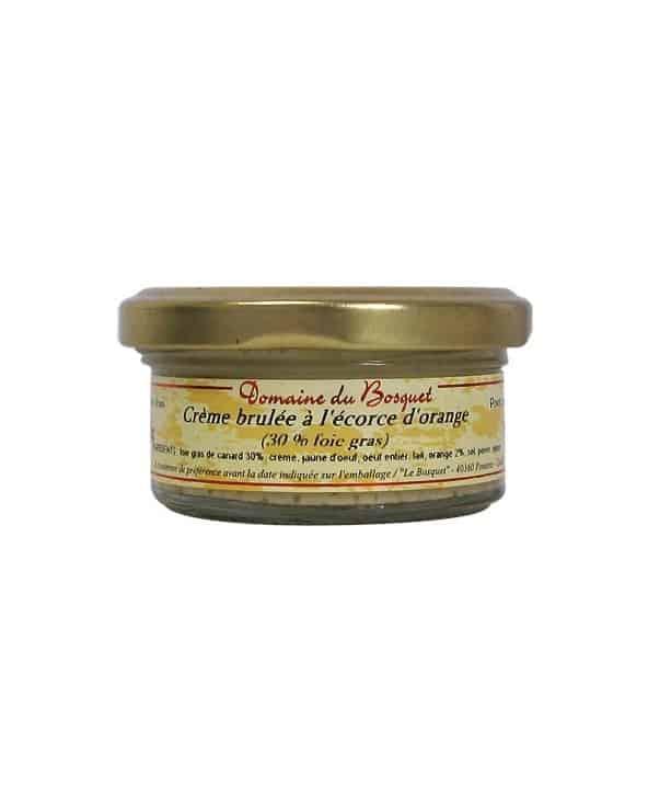 Crème brûlée à l'écorce d'orange 30% foie gras 50g