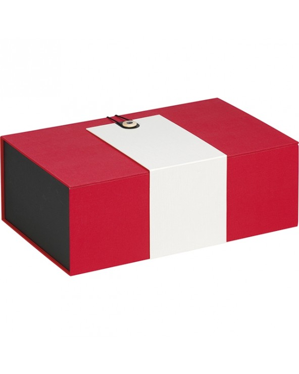 Coffret rectangle rouge et crème