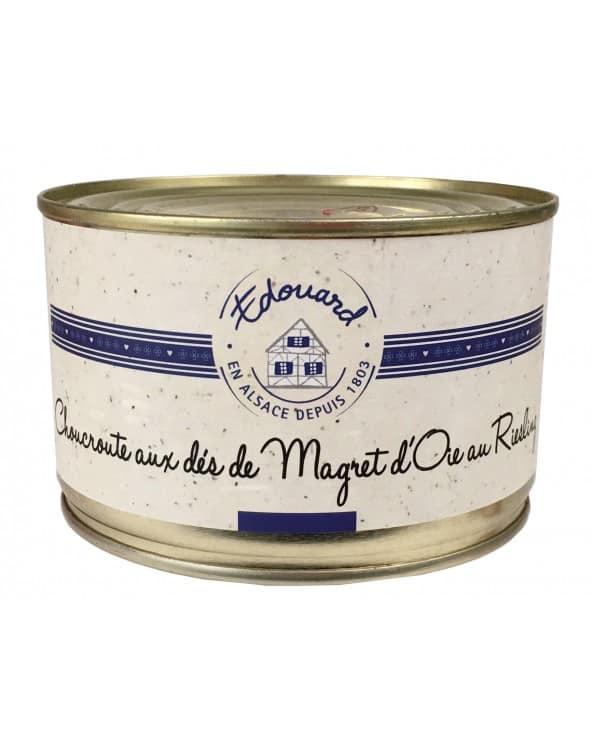 Choucroute cuisinée aux dés de Magret d'Oie et au Riesling 350g