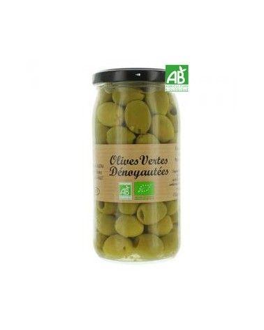 Olives vertes dénoyautées, Bio 340g