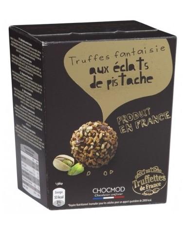 Truffes Chocolat enrobées d'éclats de Pistaches 100g