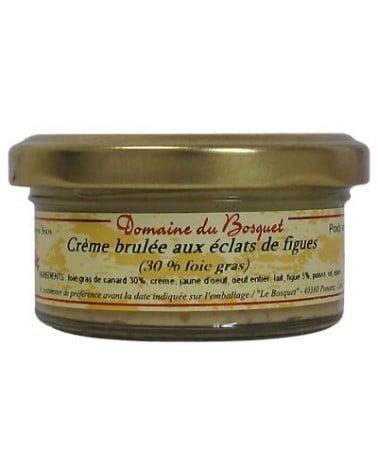 Crème brûlée aux éclats de figues 30% foie gras 50g