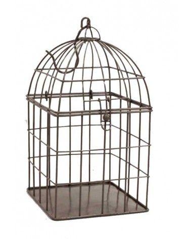 Cage à oiseaux métal gris
