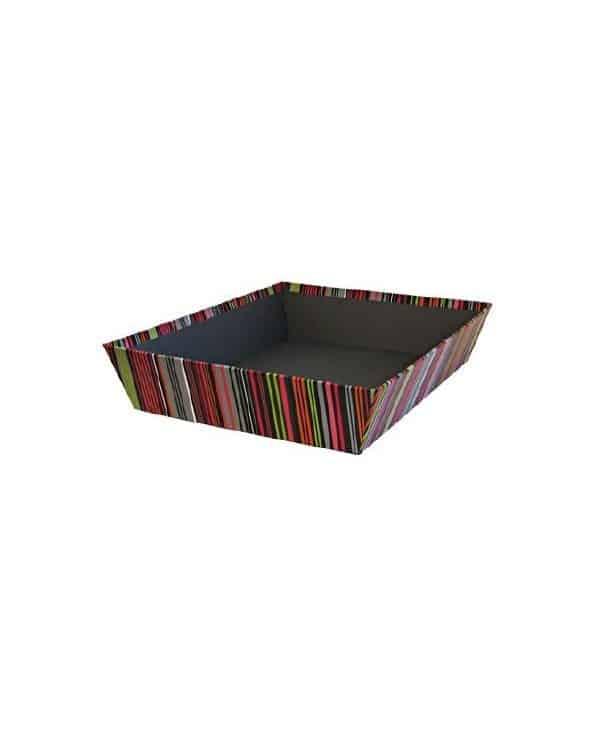Panier en carton dur coloré