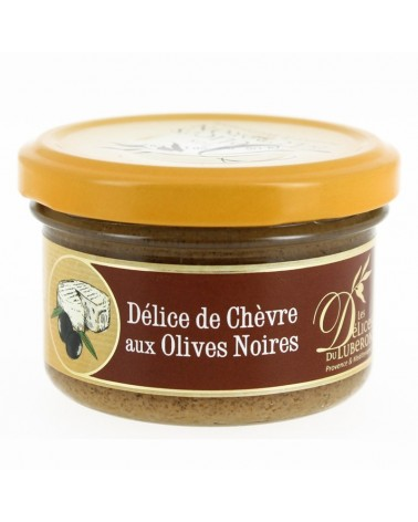 Délice de chèvre aux olives noires, 90g