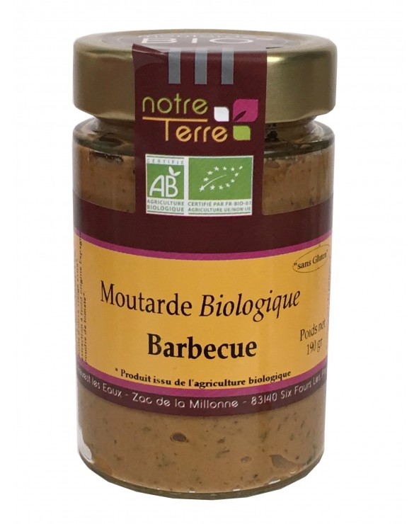Moutarde barbecue bio 180g