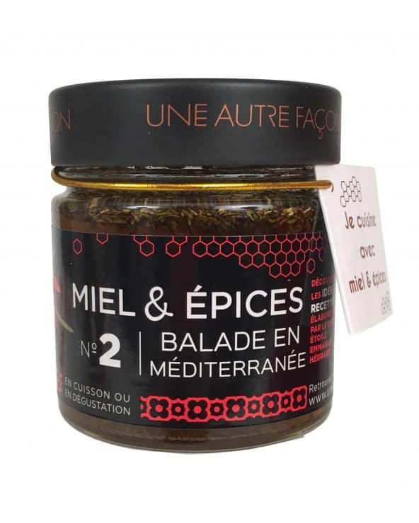 """Miel et épices """"Balade en Méditerranée"""" 270g"""