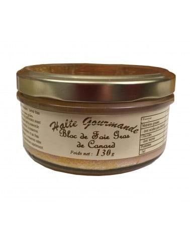 Bloc de foie gras de canard en verrine 130g
