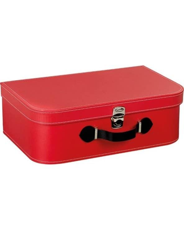 Valise rectangle rouge avec poignée
