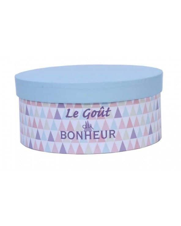 """Boîte à chapeau """"Le goût du bonheur"""" PM"""