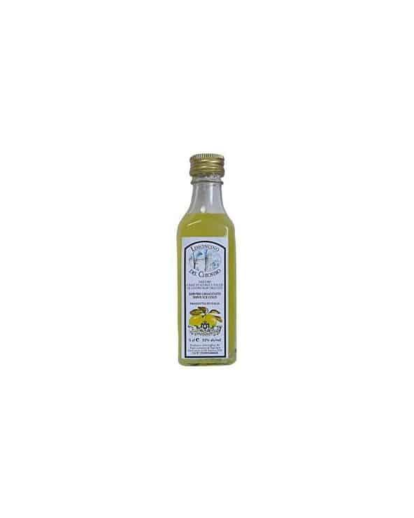 Mignonnette de liqueur limoncello del Chiostro 5cl