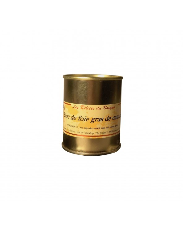 Bloc de foie gras de canard du Sud Ouest 130g TG