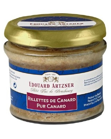 Rillettes de canard pur canard 180g Alsace
