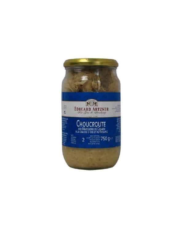 Choucroute aux Manchons de Canard à la graisse d'oie et au Riesling 750g