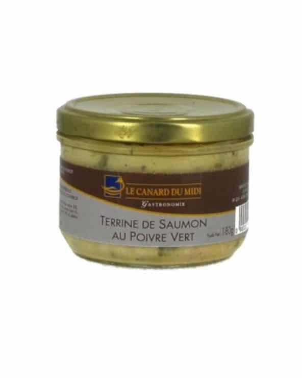Terrine de saumon poivre vert 180g