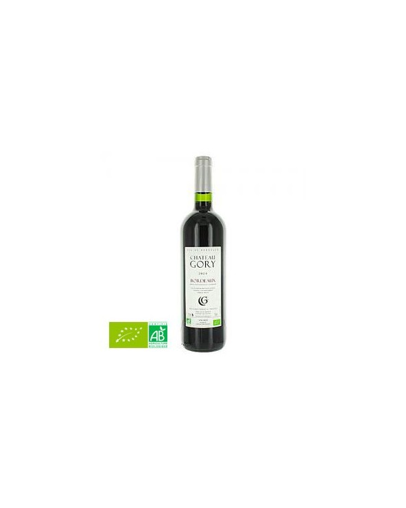 Vin rouge BIO Bordeaux Chateau Gory AOC 75CL