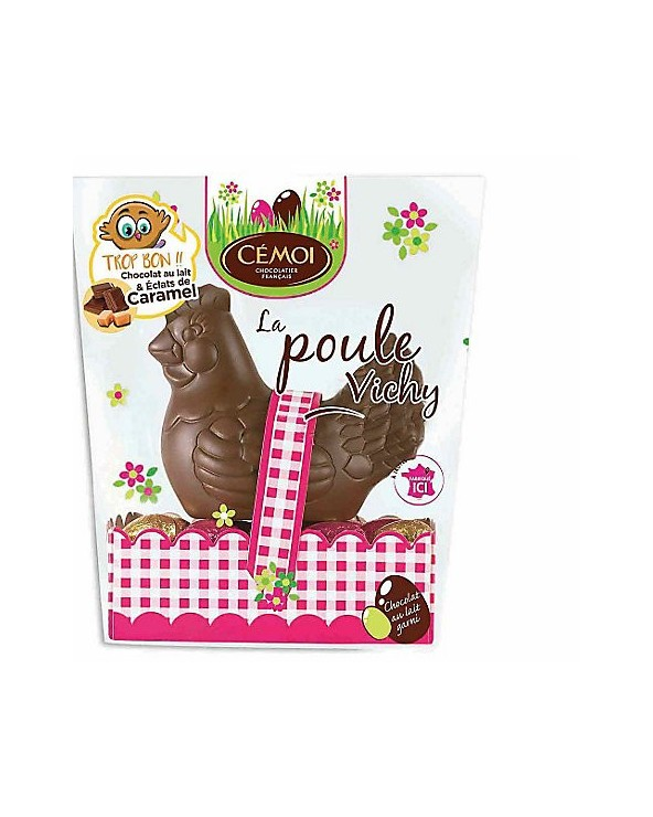 Poule en chocolat au lait vichy 175g