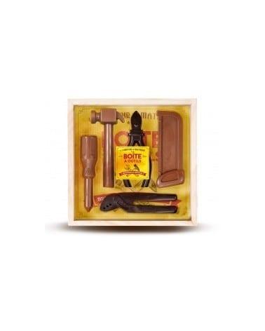 Boîte à outils aux 2 chocolat 190g (5 pièces)