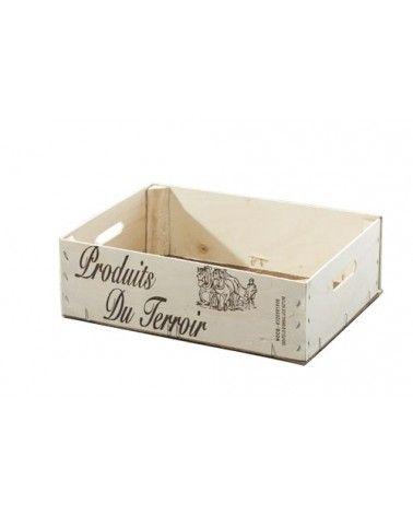 Coffre en bois Produits du Terroir