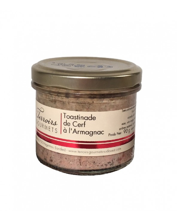 Toastinade de cerf à l'Armagnac
