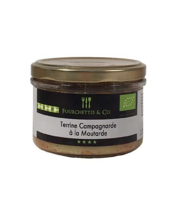 Terrine campagnarde à la moutarde Bio 180g