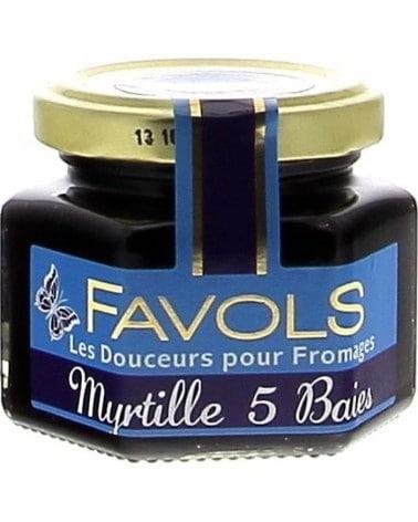 Confit pour fromages à la myrtille et aux 5 baies 110g