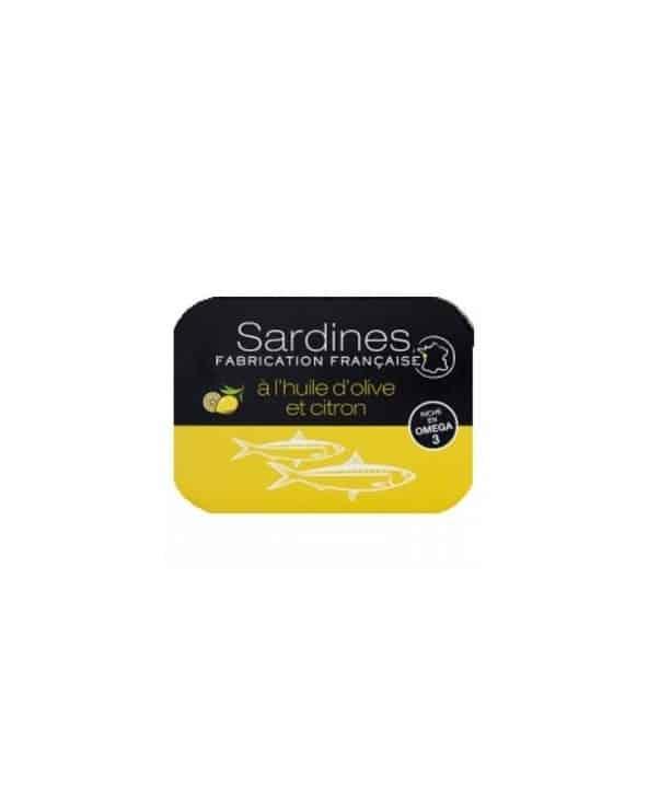 Sardines à l'huile d'olive vierge extra et au citron 115g