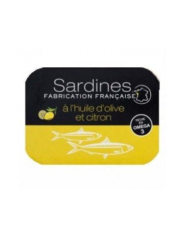 Sardines à l'huile d'olive vierge extra et au citron