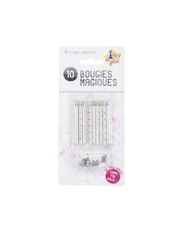 10 Bougies Magiques Grise