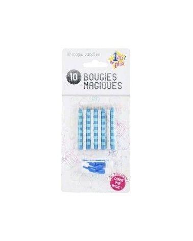 10 Bougies Magiques Bleu