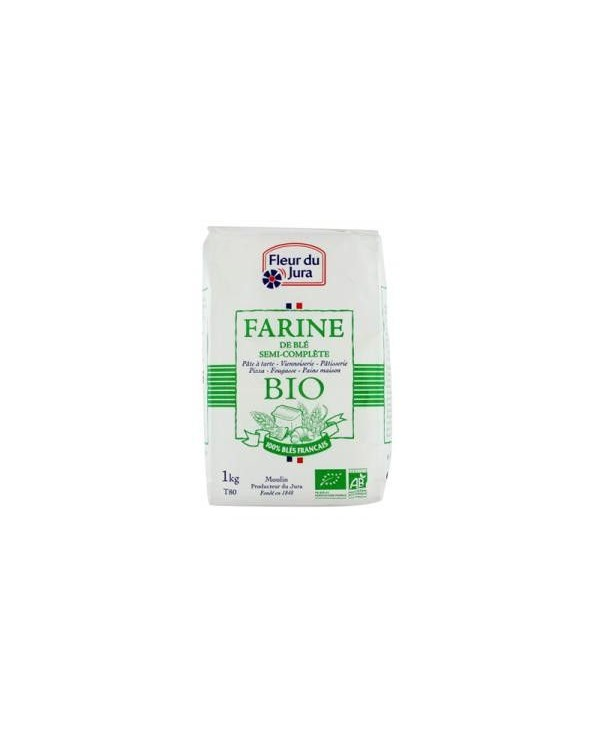 Farine de Blé Semi Complète Bio 1kg