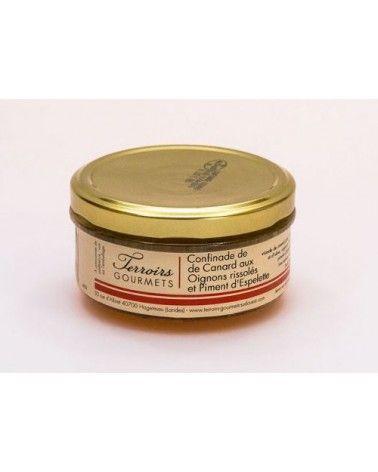 Confinade de canard aux oignons rissolés et piment d'Espelette 120g