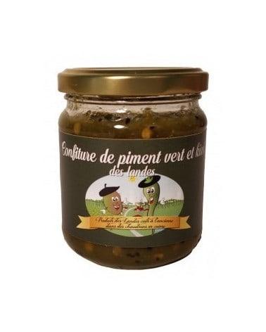 Confiture de piment vert et kiwi des Landes 225g