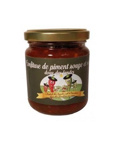 Confiture de piment rouge et vert doux des Landes