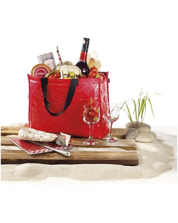 Sac isotherme rectangle rouge 2 anses