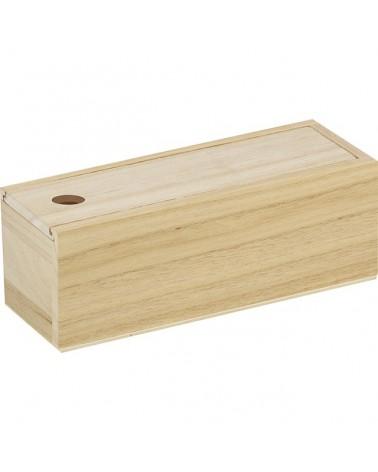Coffret en bois réglette