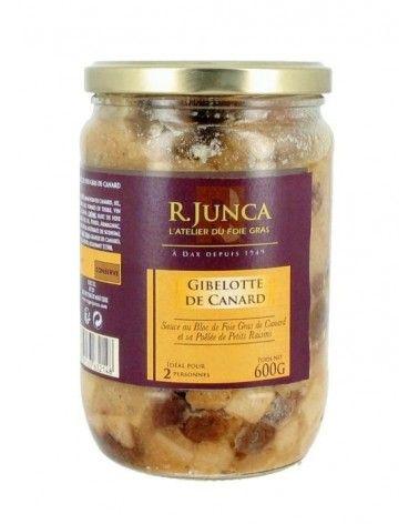 Gibelotte de canard sauce foie gras et sa poêlée de petits raisins 600g