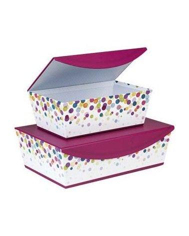 Coffret carton rectangle bulles avec fermeture aimantée