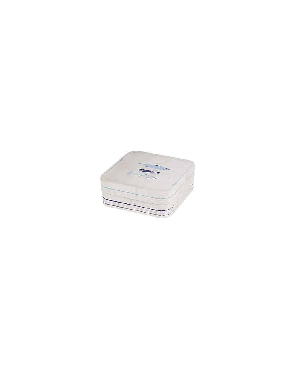 Boîte carrée en carton décor La Mer
