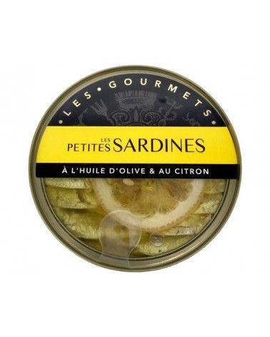 Petites Sardines à l'Huile d'Olive et au citron 120g