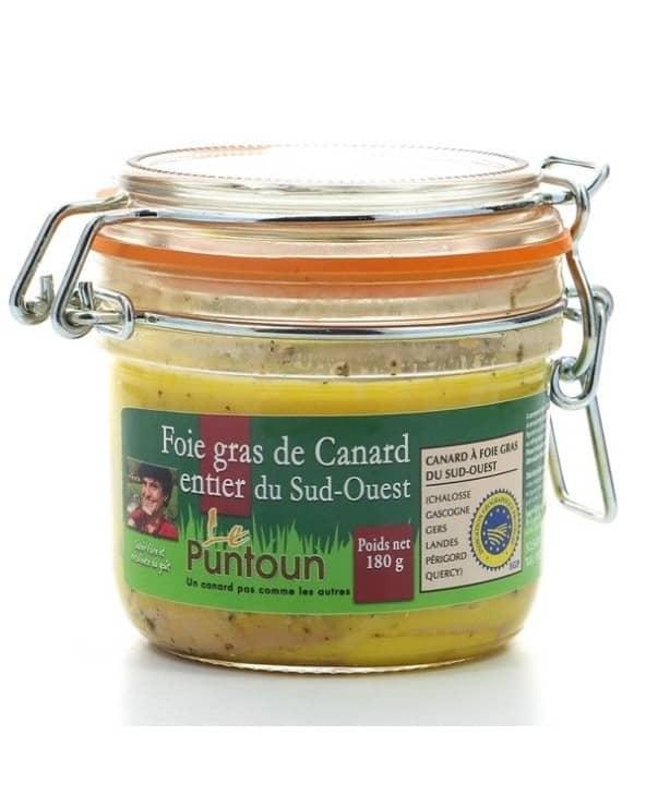 Foie gras de canard entier du Sud-Ouest IGP 180g