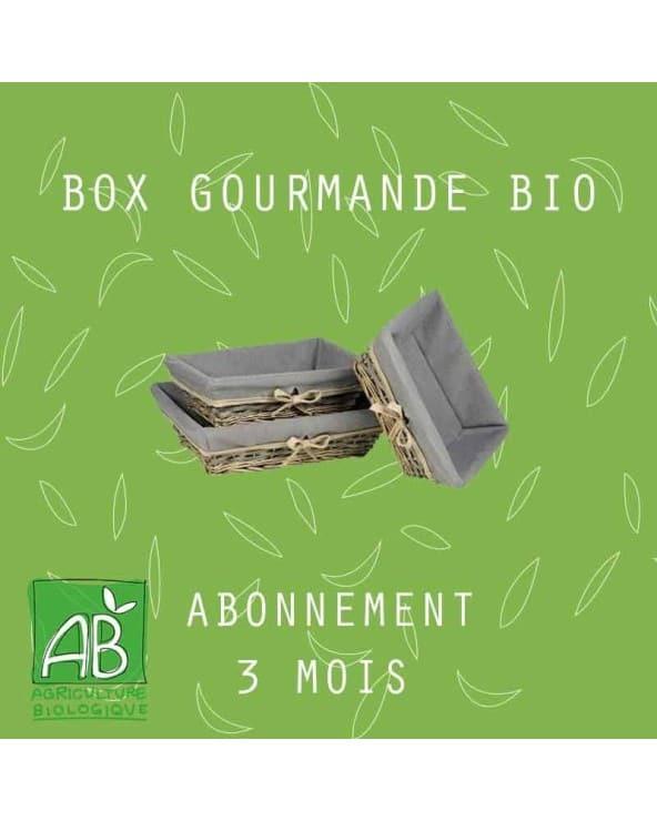 Abonnement BOX Gourmande BIO 3mois