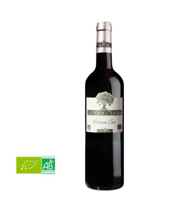 Vin rouge Côtes du Tarn 75cl Bio Tour Olivier