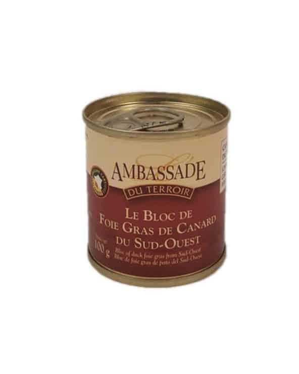 Bloc de foie gras de canard du Sud-Ouest 100g IGP