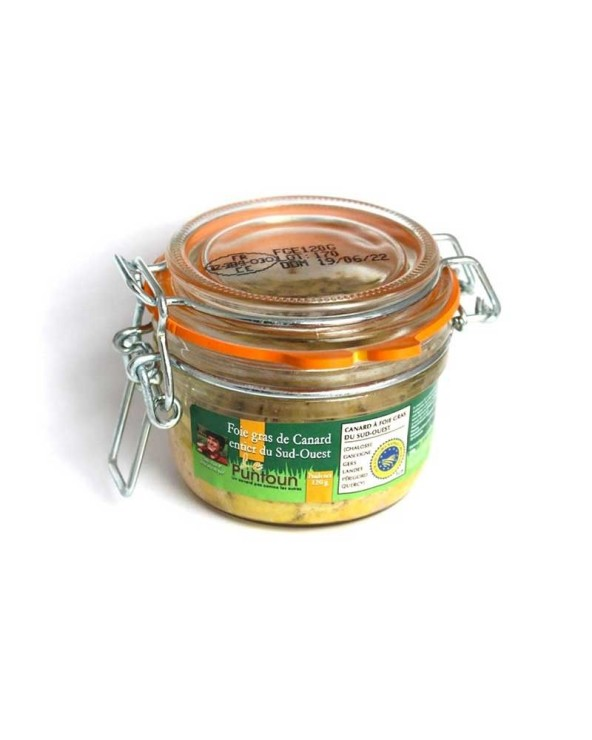 Foie gras de canard entier du Sud-Ouest IGP 120g