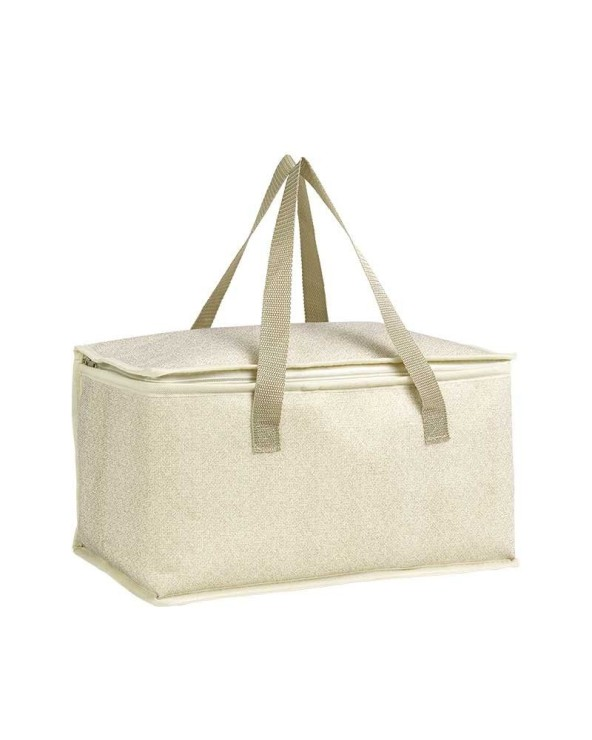 Sac isotherme beige avec 2 anses