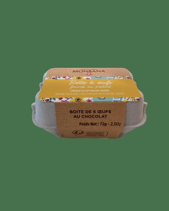 Boîte à Oeufs au Chocolat lait Praliné 72g