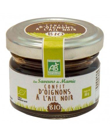 Confit d'oignon ail noir Bio 60g