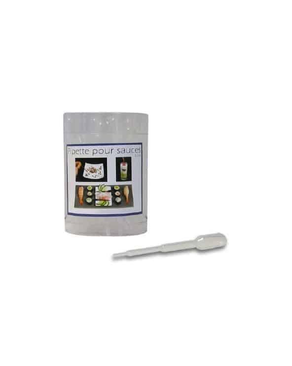 Lot de 25 pipettes pour sauces 8.5cm 0.5ml