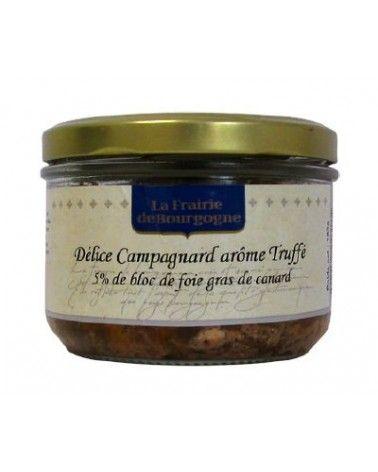 Délice campagnard arôme truffé 5% de foie gras de canard 180g